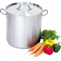 Suppentopf hohe Form 25,7 Liter mit Deckel 2