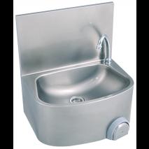 Handwaschbecken halbrunde Form BxTxH 48x35x22cm ohne Mischbatterie