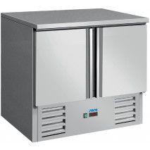 Saro Kühltisch 2 Türen Umluft Edelstahl