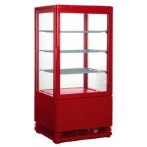Mini-Umluftkühlvitrine SC70 red