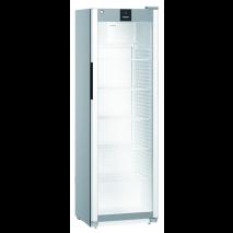 KBS Getränkekühlschrank MRFvd 4011 grau mit Glastür und Umluftkühlung 40574011