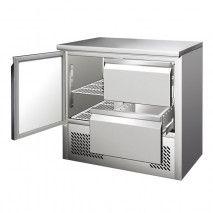 Kühltisch mit 1 Tür + 2 Schubladen