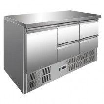Kühltisch mit 1 Tür + 4 Schubladen