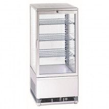 Panorama - Tischkühlvitrine 78L weiß