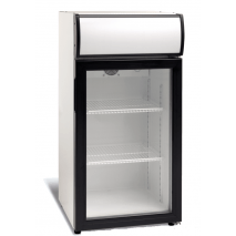 KBS Kühlschrank 80 L - Glastür - Umluft