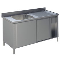 Spülschrank Pro 1400x700 mit 1 Becken links