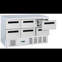 Kühltisch mit 6 Schubladen