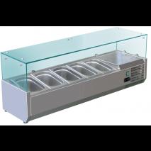 GastroStore - Kühlaufsatz - G5 - 5x GN 1/3 - ECO - mit Glasaufsatz