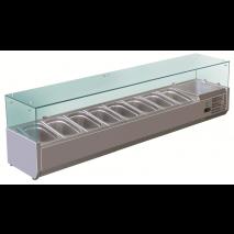 GastroStore - Kühlaufsatz - G8 - 8x GN 1/3 - mit Glasaufsatz