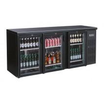 GGG Flaschenkuehltisch, 2002x513x860 mm, schwarz, 536.5 L