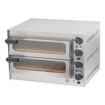 GGG GGG Pizzaofen, 550x497x380 mm, 230 V, 50 Hz, 2,7 kW, Edelstahl