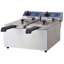 GGG Elektro-Doppel-Fritteuse 6+6 Liter, ECO
