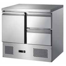 GGG GGG - Kuehltisch S901 2D - 1 Tuer und 2 Schubladen - GN1-1 - Edelstahl - energiesparend