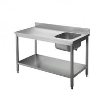 GastroStore Cheftisch Pro 1200x600, Becken links