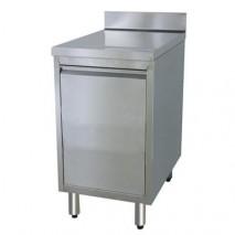 GastroStore Edelstahl Schrank mit Abfallkipper Pro 400x600 und 100mm Aufkantung