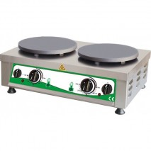 GastroStore Elektro Crepiere 2 Platten 40 cm teflonbeschichtet Grauguss 1
