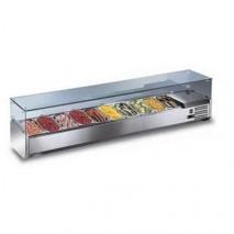 GastroStore GastroStore - Kuehlaufsatz - G8 - 8x GN 1-3 - mit Glasaufsatz