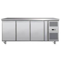 GastroStore GastroStore - Kuehltisch - 3 Tueren - GN1-1 - Edelstahl - energiesparend