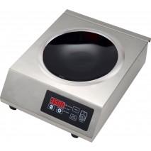 Induktionswok Edelstahlgehäuse mit Glaskeramik-Kochfläche Schott Ceran 3,5kW