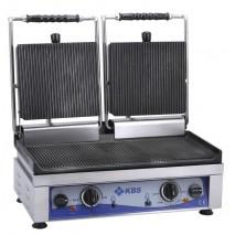GastroStore Kontaktgrill oben gerillt unten glatt 3500 Watt 1