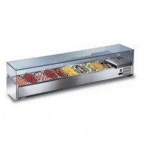 GastroStore Kuehlaufsatz 9x GN 1-3 ECO mit Glasaufsatz
