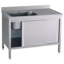 GastroStore Spuelschrank Pro 1400x700 mit 1 Becken links