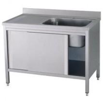 GastroStore Spuelschrank Pro 1400x700 mit 1 Becken rechts