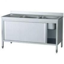 GastroStore Spuelschrank Pro 1400x700 mit 2 Becken rechts