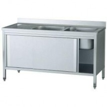 GastroStore Spuelschrank Pro 1600x700, 2 Becken rechts