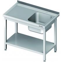 GastroStore Spueltisch 1 Becken links ECO 1100x600x850