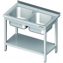 GastroStore Spueltisch 2 Becken PRO 1200x700x850 1