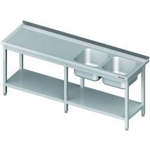 GastroStore Spueltisch 2 Becken links PRO 2500x600x850 1