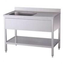 GastroStore Spueltisch Pro 1000x600 Becken links