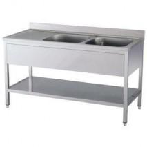 GastroStore Spueltisch Pro 1600x600 - 2 Becken rechts