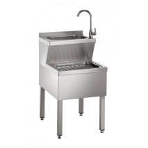 GGG Handwasch-Ausgussbeckenkombination aus CNS 500 x 600 x 850mm