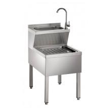 GGG Handwasch-Ausgussbeckenkombination aus CNS 500 x 700 x 850mm