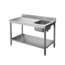 KBS Cheftisch Pro 1200x700, Becken links