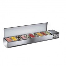 Kühlaufsatzvitrine mit Edelstahldeckel