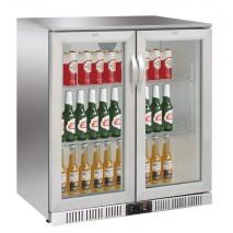 GGG GGG Flaschenkuehlschrank, 900x520x900mm, 2 Glasklapptueren, 208 L