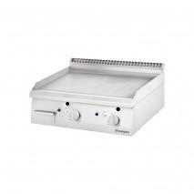 Stalgast Gas-Griddleplatte als Tischgeraet, Serie 700 ND - ½ glatt - ½ gerillt 800x700x250 mm