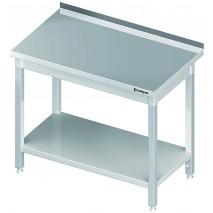 Stalgast Edelstahl Arbeitstisch 40x60 ECO Grundboden mit Aufkantung 1
