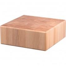 Stalgast Hackblock aus Holz, 40 x 40 x 15 cm (BxTxH)