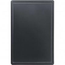 Stalgast Schneidbrett, HACCP, Farbe schwarz, 450 x 300 x 13 mm (BxTxH)