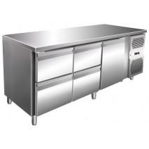 Kühltisch - 464 Liter - 1 Tür, 4 Schubladen - GN 1/1