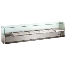 GGG Pizzakuehlaufsatz mit Glasaufsatz, 1500x395x460 mm