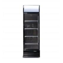 GGG - Getränkekühlschrank - schwarz - 430 L - Umluftkühlung - mit Display