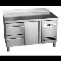 Kühltisch Ready KT2002 mit Aufkantung - 2 Schubladen + 1 Tür - GN 1/1