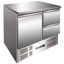 Kühltisch KTM202 - 2 Schubladen und 1 Tür - GN 1/1