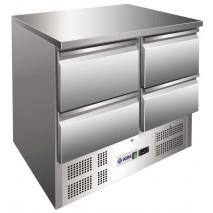 Kühltisch KTM204 - 4 Schubladen  - GN 1/1