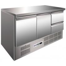 Kühltisch KTM302 - 2 Türen und 2 Schubladen  - GN 1/1